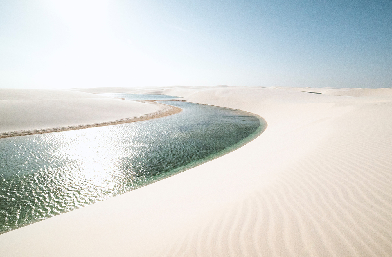 Kiteboarding with Karolina Winkowska in the Lencois Maranhenses National Park, Brazil's image